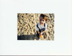 At Bronte Beach. Nick was about 3.
