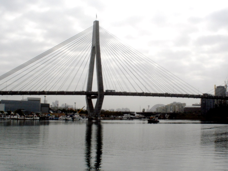 Anzac Bridge on Cloudy Day